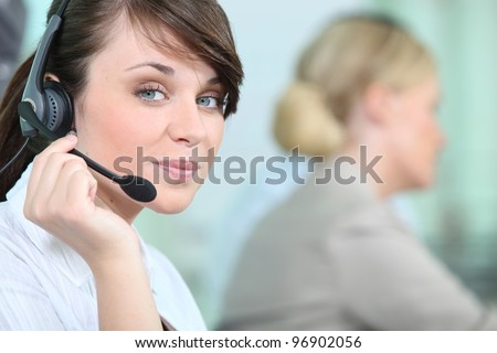portrait of a woman with headset