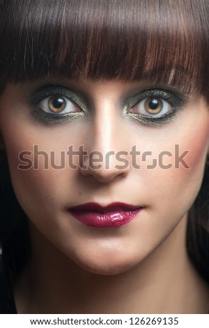 Portrait of a woman with make-up
