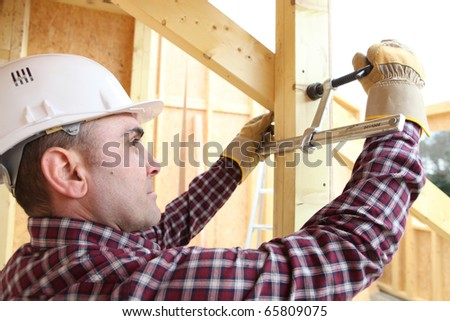 Portrait of a worker with pliers