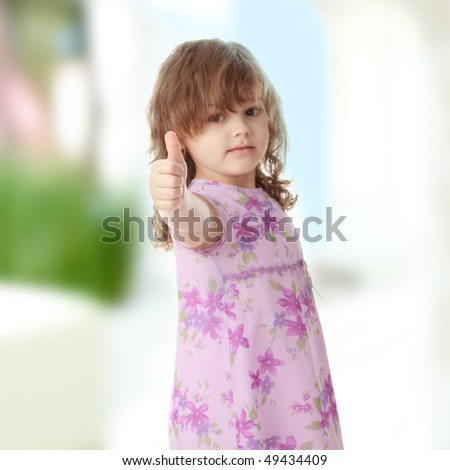 stock photo : Portrait of a 5 year old girl