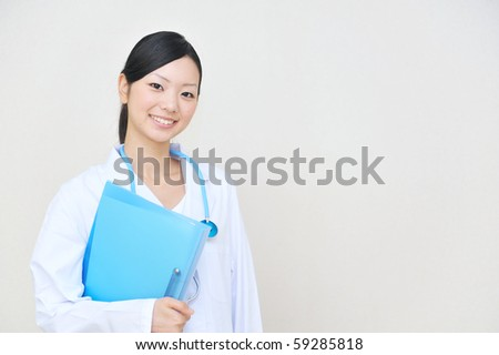Portrait of a young asian doctor