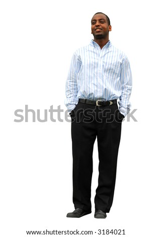 Portrait of a young attractive businessman isolated on white background