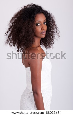 Portrait of a young beautiful African American woman