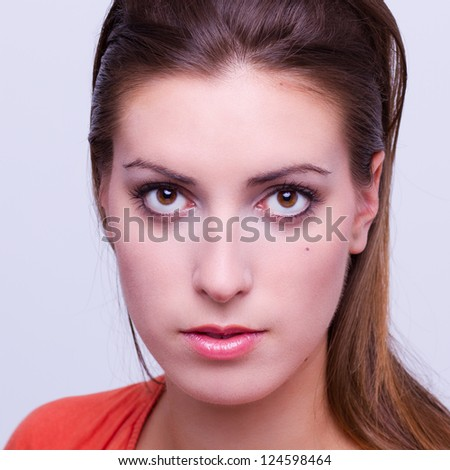portrait of a young beautiful woman