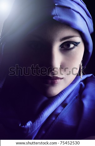 Portrait of a young beauty, plenty of copy-space