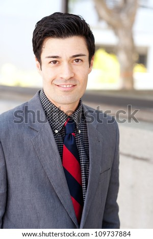 portrait of a young businessman