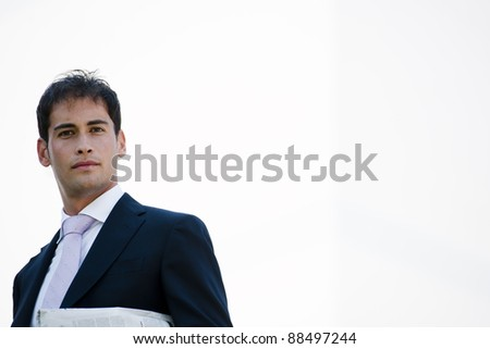 POrtrait of a young businessman, lots of copy-space