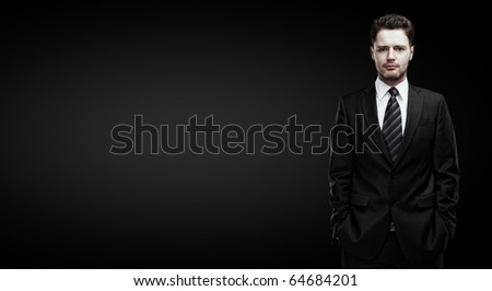 portrait of a young businessman with place for your text
