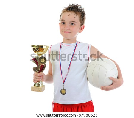 Portrait of a young football player. isolated on a white background