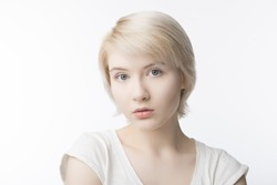 Portrait of a young girl in high key