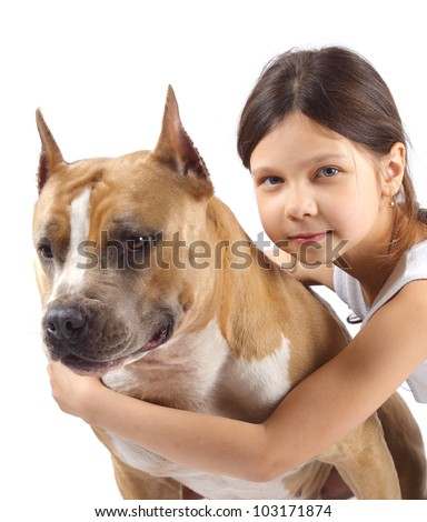 Portrait of a young girl with his best friend.
