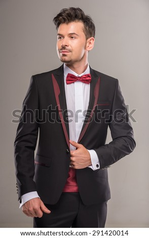 Popular Free Portrait of a young man in black suit and red bow-tie ...