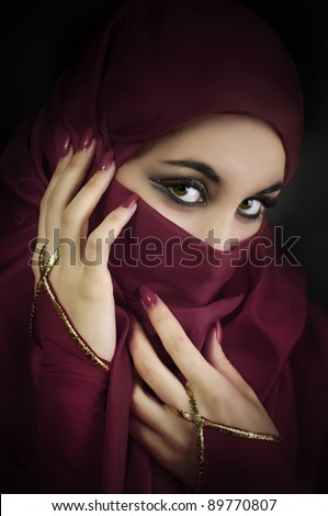 Portrait of a young muslim beautiful woman