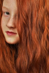 portrait of a young red headed girl
