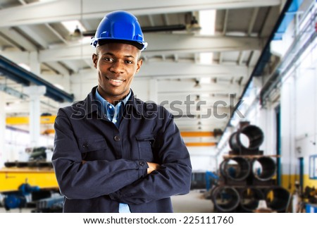 Portrait of a young smiling worker