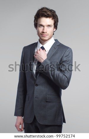 Portrait of a Young Stylish Business Man
