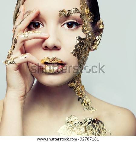 Portrait of a young woman's gold