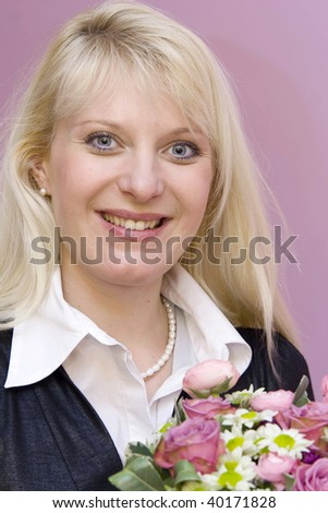 Portrait of a young woman with bunch