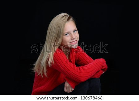 Portrait of adorable girl