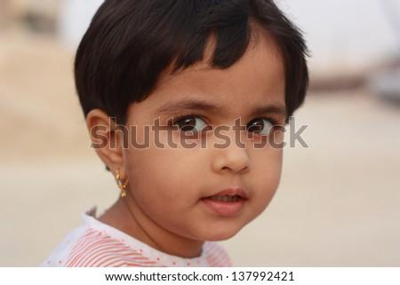 Portrait of adorable little Asian girl