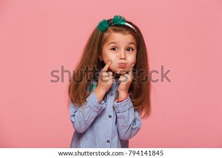 portrait of adorable little...