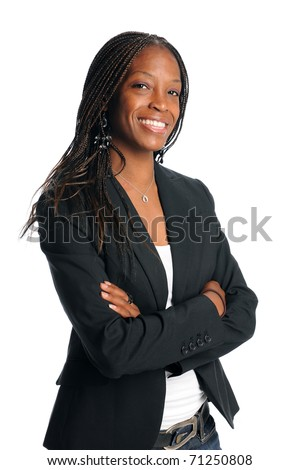 Portrait of African American businesswoman smiling