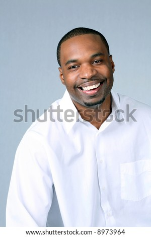 Portrait of African-American man with great teeth