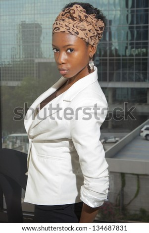 Portrait of African American woman - stock photo