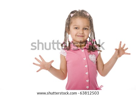 portrait of african girl with dreadlocks  isolated on white background