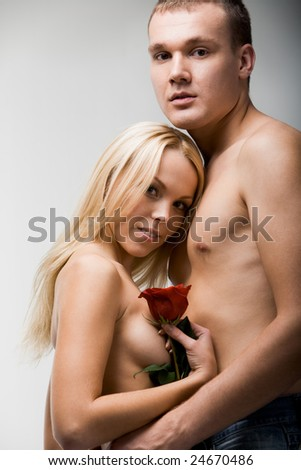stock photo portrait of amorous nude couple in tender embrace 24670486 American Airlines, Madrid Pride, San Francisco top gay travel awards ...