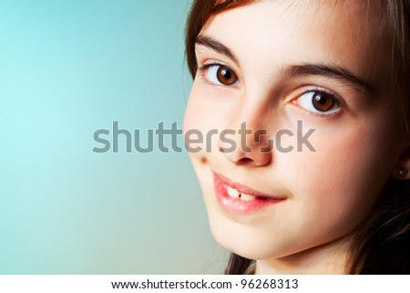 Portrait of an adorable little girl inf her First Communion Day