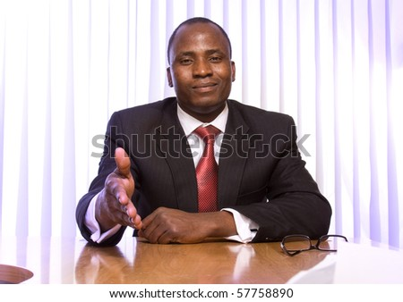 Portrait of an African American business