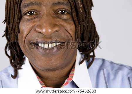 Portrait of an African American Businessman Smiling Directly to Camera