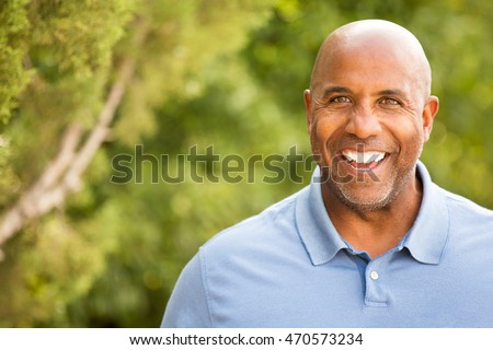 Portrait of an African American Man Outdoors #470573234