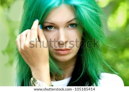 portrait of an alternative model #105185414