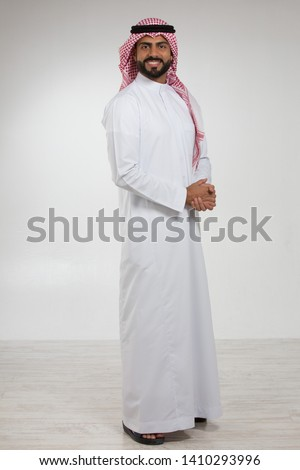 Portrait of an Arab man.