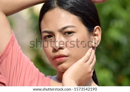 Portrait Of An Asian Adult Female