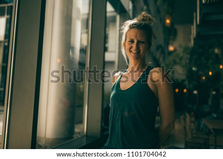 Portrait of an attractive and natural yoga woman