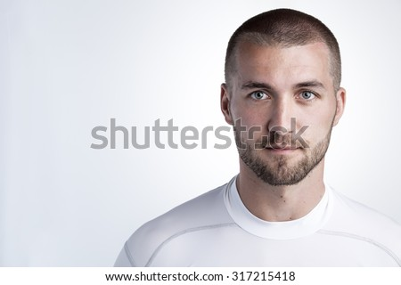 Portrait of an attractive athlete #317215418