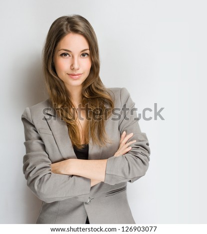 Portrait of an attractive stylish young brunette woman.