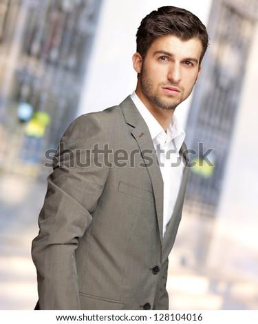 Portrait Of An Businessman, Outdoor