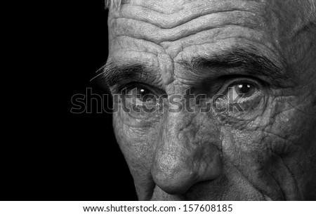 portrait of an elderly man on...