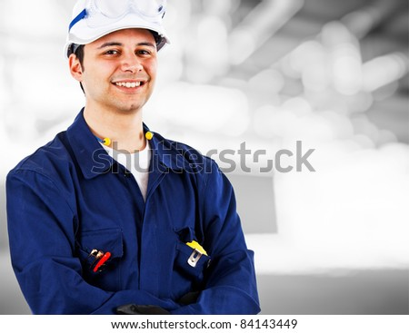 Portrait of an handsome engineer
