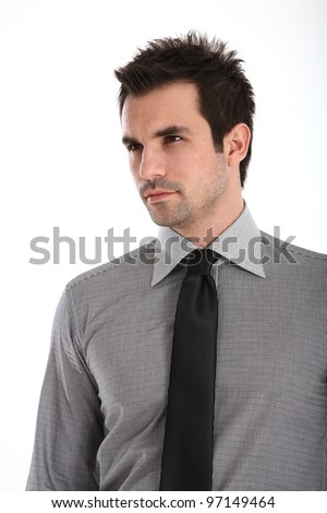 Portrait of an Handsome man in shirt and tie