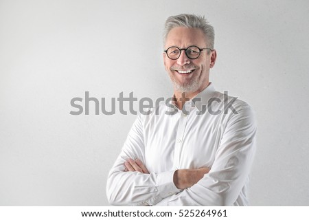 Portrait of an handsome man smiling