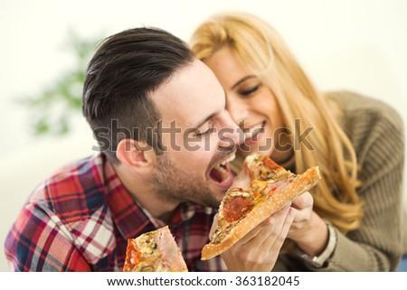 portrait of an happy couple...