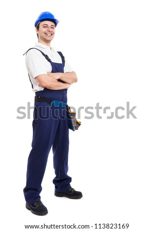 Portrait of an happy smiling worker