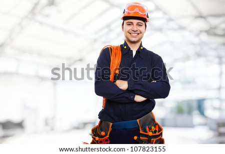 Portrait of an happy worker