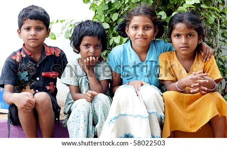 Portrait of an Indian Kids