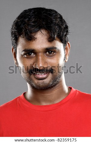 Portrait of an Indian young man - stock photo